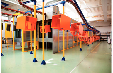 Powder coating facility